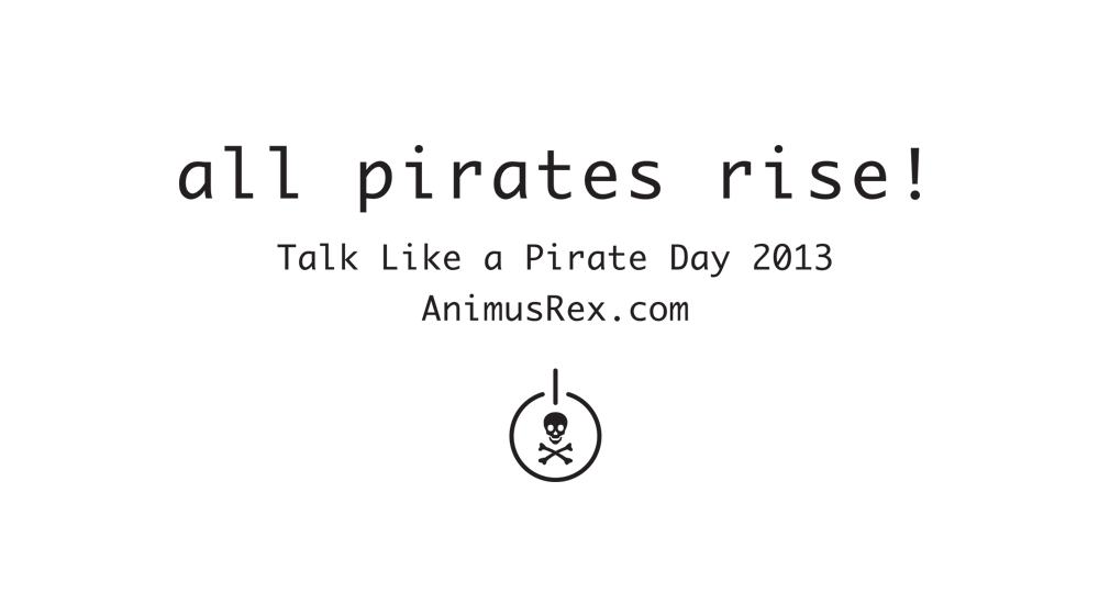 2013 - Back - All Pirates Rise!